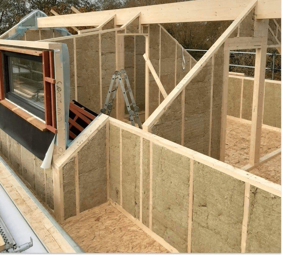 maison en ossature bois en pré-débit