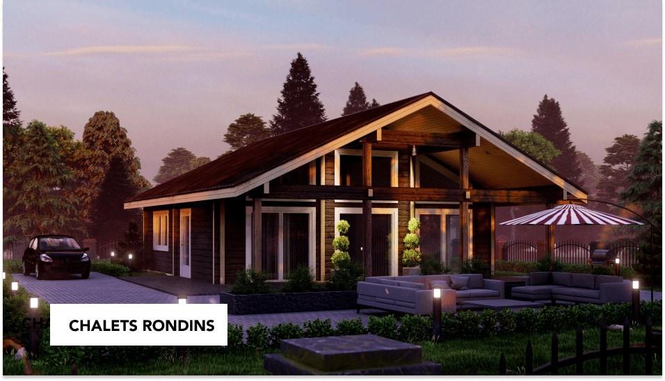 construction d'une maison en rondins