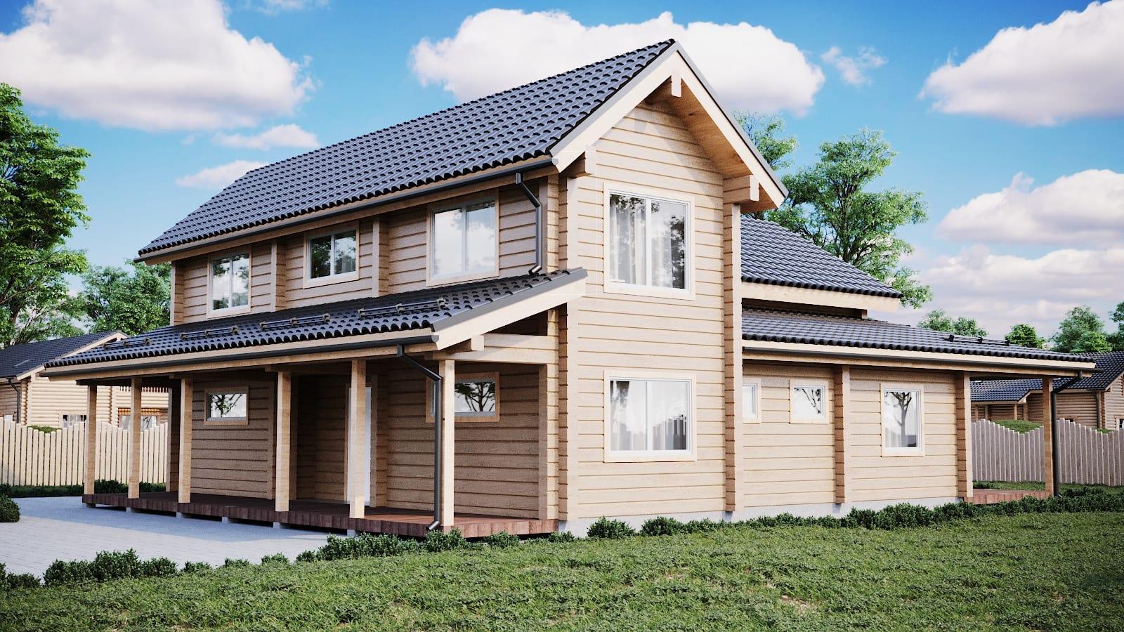 Maison en rondins et madriers - 225m² - 3 chambres - terrasse - AMBRE