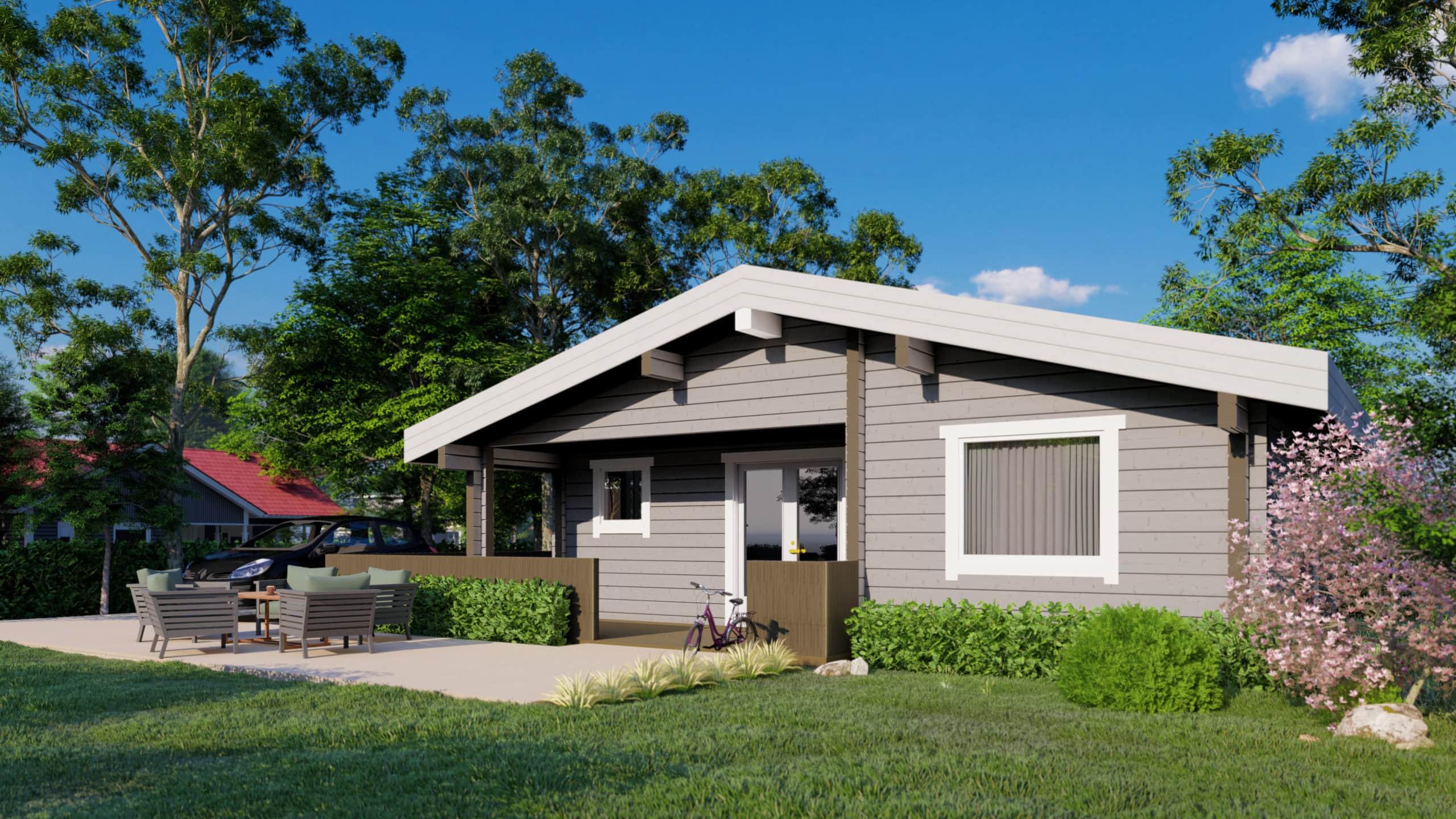 Maison en rondins et madriers - 92m² - 3 chambres - terrasse - CAPUCIN