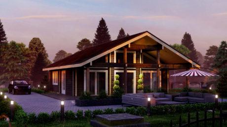 Maison en rondins et madriers - 80m² - 2 chambres - terrasse - MILAN