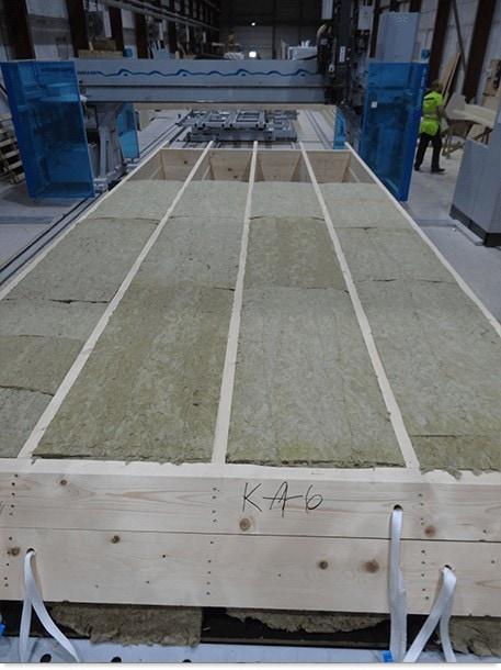 élément préfabriqué en bois pour chalet en kit
