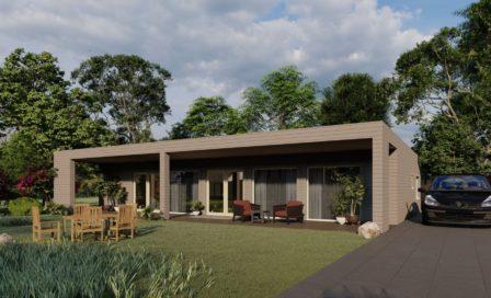 Maison en rondins et madriers - 199m² - 4 chambres - terrasse - plain pied - CÈDRE