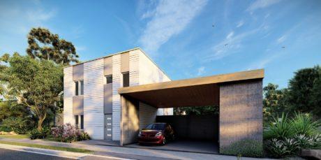 Maison en bois préfabriquée - 101m² - 4 chambres - CERISIER