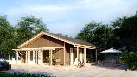 Maison en bois préfabriquée - 70m² - 2 chambres - terrasse - plain pied - COLIBRI