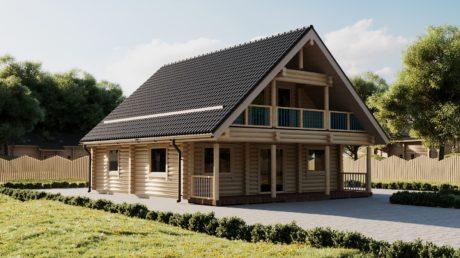 Maison en rondins et madriers - 179m² - 3 chambres -balcon et terrasses - HIBISCUS