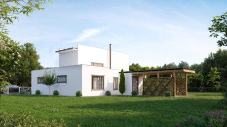 Maison préfabriquée ossature bois - 197m² - 3 chambres - balcon et terrasse - LOTUS
