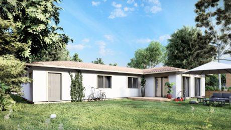 Maison en bois préfabriquée - 144m² - 3 chambres - terrasse - plain pied - PLATANE